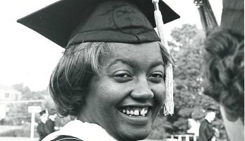 black and white photo of Dr. Josetta Brittain Matthews