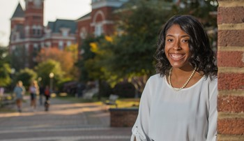 Akayla Todd on campus